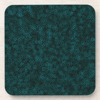 Posterized Blue Thread Coaster