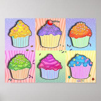 Posters, Prints - Pop Art Cupcakes