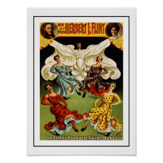 Posters Theater Vintage Hypnotic Skirt Dance