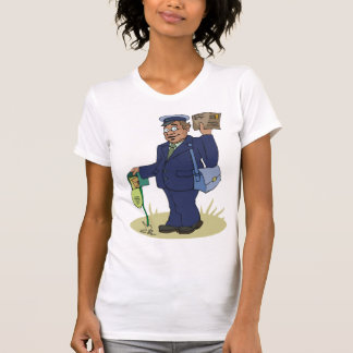 Postie Delivering Womens T-Shirt