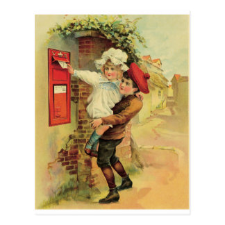 Posting a letter postcard