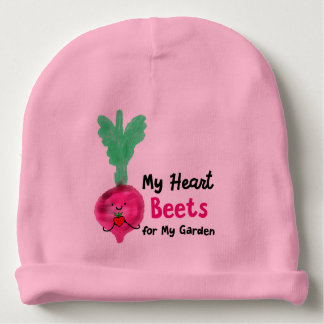 Postive Beet Pun - My Heart Beets for my Garden Baby Beanie