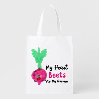 Postive Beet Pun - My Heart Beets for my Garden Reusable Grocery Bag