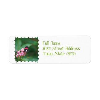 Postman Butterfly Return Address Label