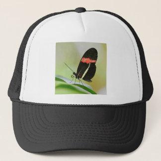 Postman butterfly on leaf trucker hat