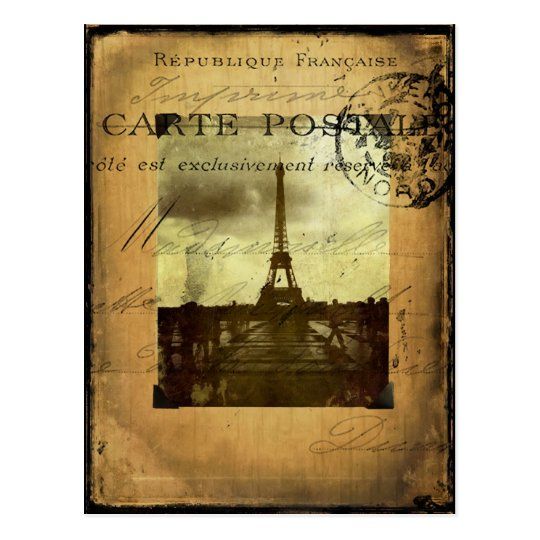 Postmarked Paris Postcard