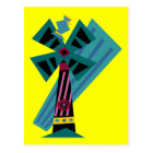 Postmodern Palm Bird Sans Background Postcard