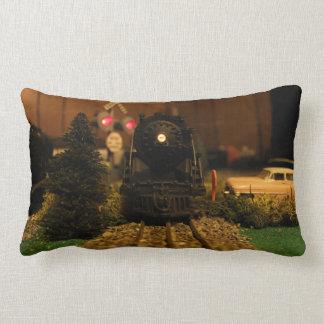 Postwar Lionel 736 Steam Engine Scene Pillow
