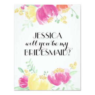 Posy Garden | Bridesmaid Card