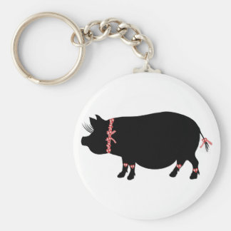 Pot Bellied Pig Girl Key Chains