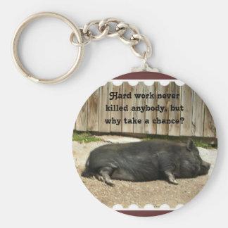 Pot Bellied Pig Keychain