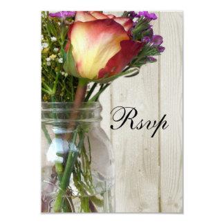 Pot de maçon w/Rose et fleurs sauvages Bristol Personnalisé
