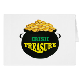 pot Irish Treasure Card