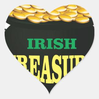 pot Irish Treasure Heart Sticker