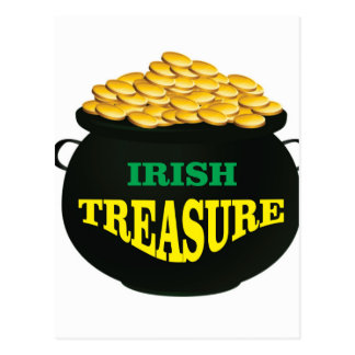 pot Irish Treasure Postcard