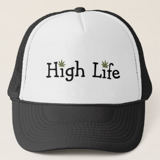 pot-leaf, pot-leaf, High Life Trucker Hat
