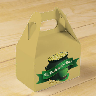 Pot of Gold and Leprechaun Hat Favor Box