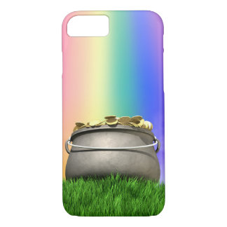 Pot Of Gold And Rainbow On Grassy Hill Case-Mate iPhone Case
