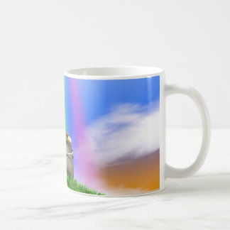 Pot Of Gold And Rainbow On Grassy Hill Coffee Mug
