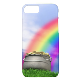 Pot Of Gold And Rainbow On Grassy Hill iPhone 8/7 Case