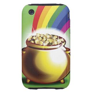 Pot of gold and rainbow tough iPhone 3 case