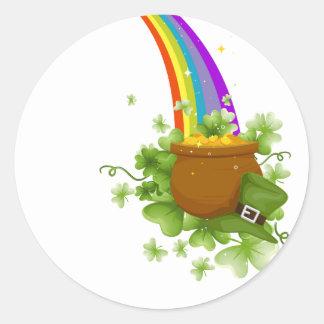 Pot of Gold Classic Round Sticker