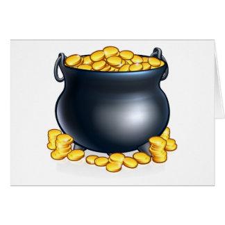 Pot of Gold Coins Card