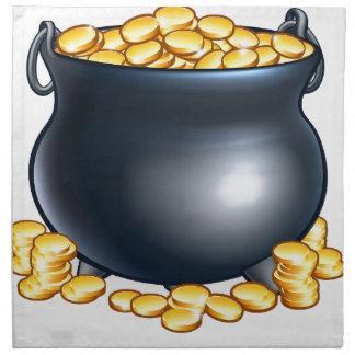 Pot of Gold Coins Napkin