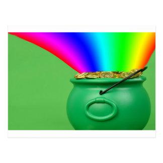 pot of gold postcard
