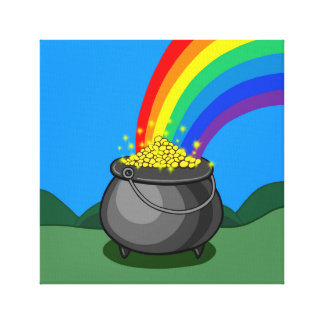 Pot of Gold & Rainbow Canvas Print