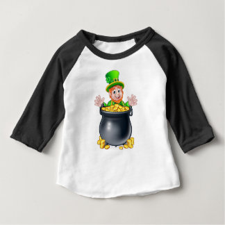 Pot of Gold Saint Patricks Day Leprechaun Baby T-Shirt