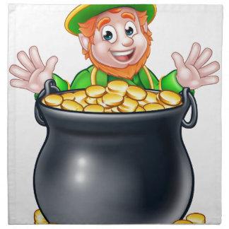 Pot of Gold Saint Patricks Day Leprechaun Napkin