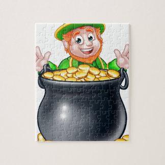 Pot of Gold Saint Patricks Day Leprechaun Puzzles