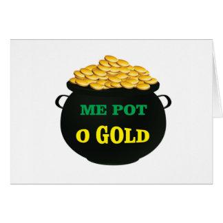 pot of gold treasure pot card