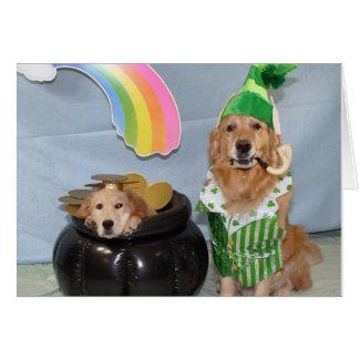 Pot of Golden for St. Patrick's Day Card