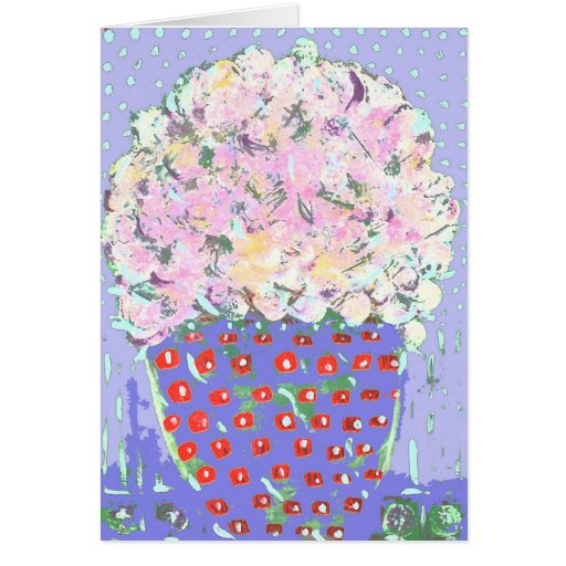 Pot of Spring Flowers Greeting Card