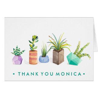 Pot of Succulents Card