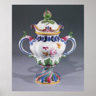 Pot-pourri Vase, made in Strasbourg, c.1754-60 Poster