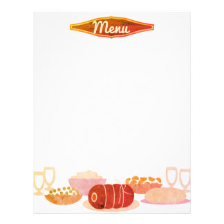 pot roast homestyle dinner menu letterhead