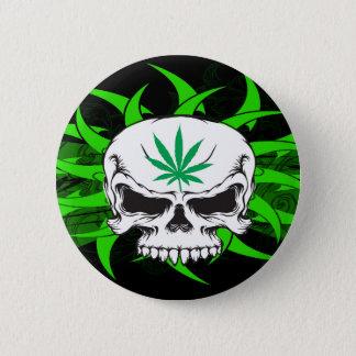 Pot Skull Drinky Drinky 2 Inch Round Button