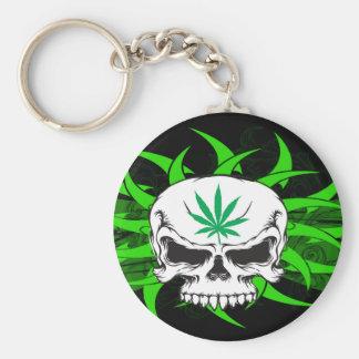 Pot Skull Key Chain
