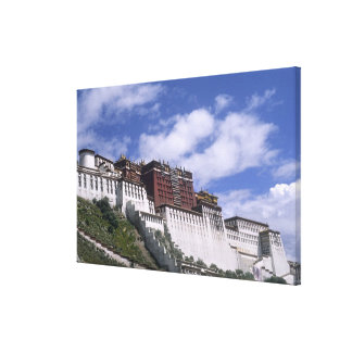 Potala Palace on mountain the home of the Dalai Canvas Print