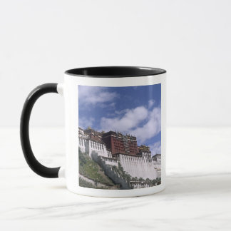 Potala Palace on mountain the home of the Dalai Mug