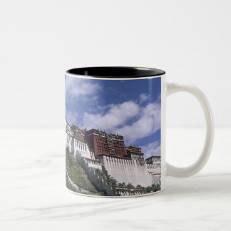 Potala Palace on mountain the home of the Dalai Two-Tone Coffee Mug