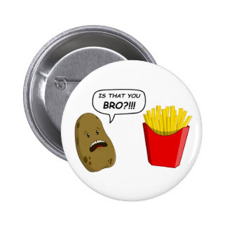 potato and fries 2 inch round button