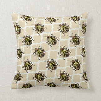 Potato Beetle Pattern Art Throw Pillow