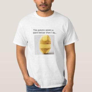 Potato Bikini Mens Shirt