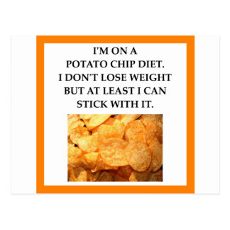 POTATO CHIPS POSTCARD