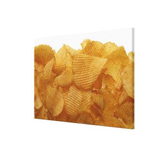 Potato crisps on white background, DFF image Canvas Prints