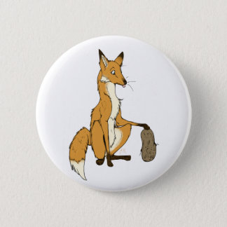 Potato Fox 2 Inch Round Button